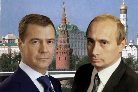 №7 Double portrait on the background of the Kremlin