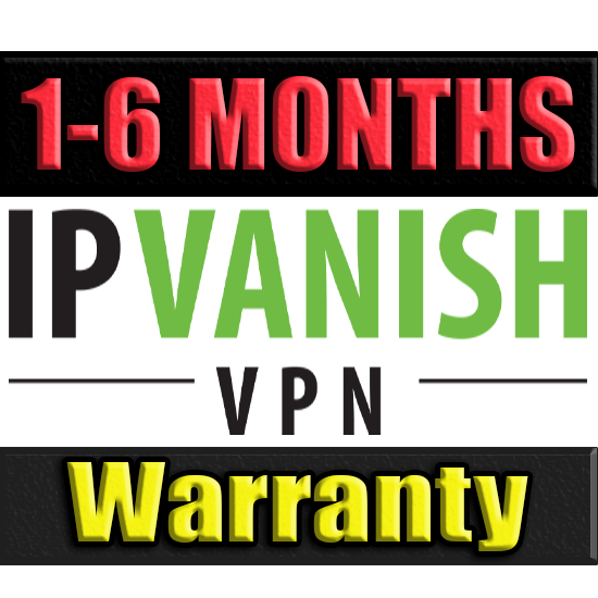 IPVanish VPN l SUBSCRIPTION 1-6 MONTHS ✅ WARRANTY 🔥