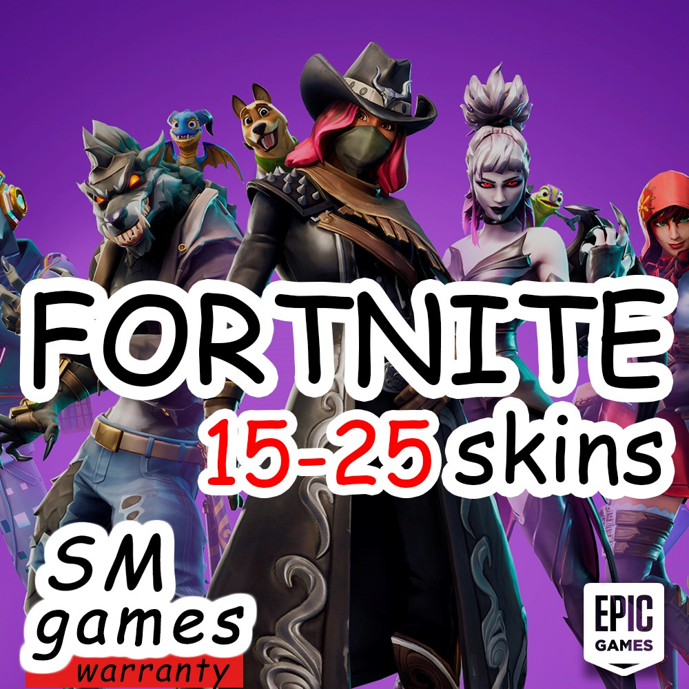 FORTNITE |15-25 PVP SKINS |CASHBACK| WARRANTY🔵