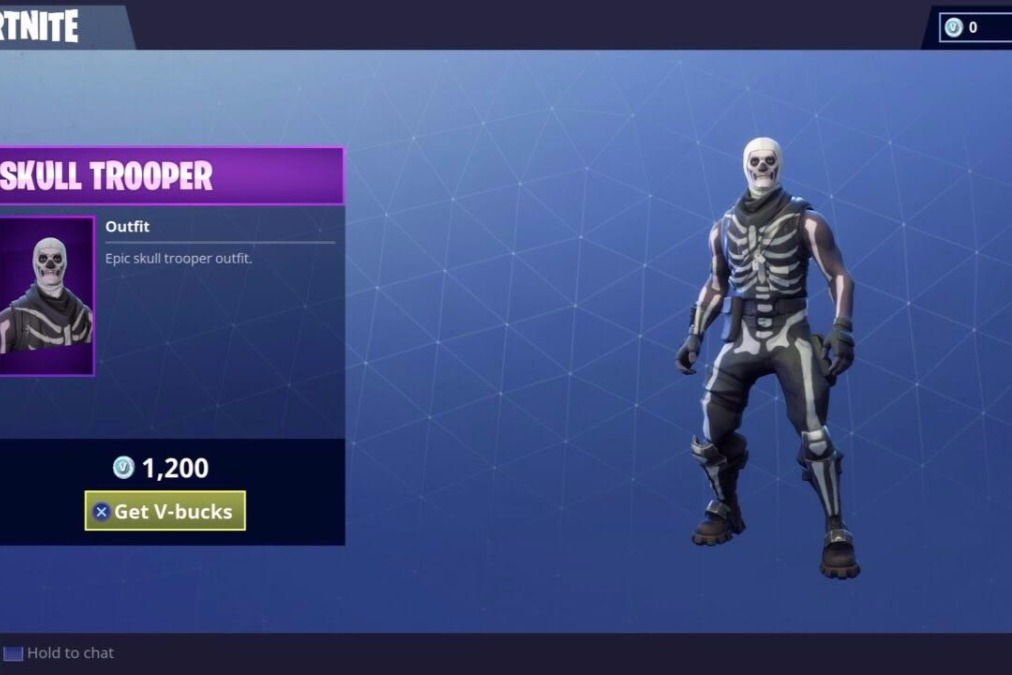 buy fortnite epic gear skull trooper and download