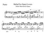 Ноты Didier Marouani & Space - Ballad For Space Lovers