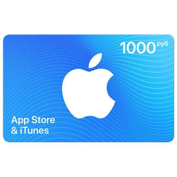 Gift Card for App Store & iTunes 1000, for 930RUB