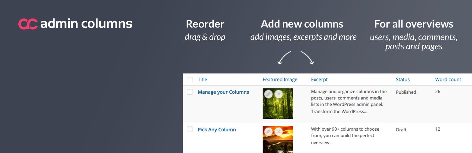 Admin Columns Pro v4.5.7 - WordPress Columns Manager 2019