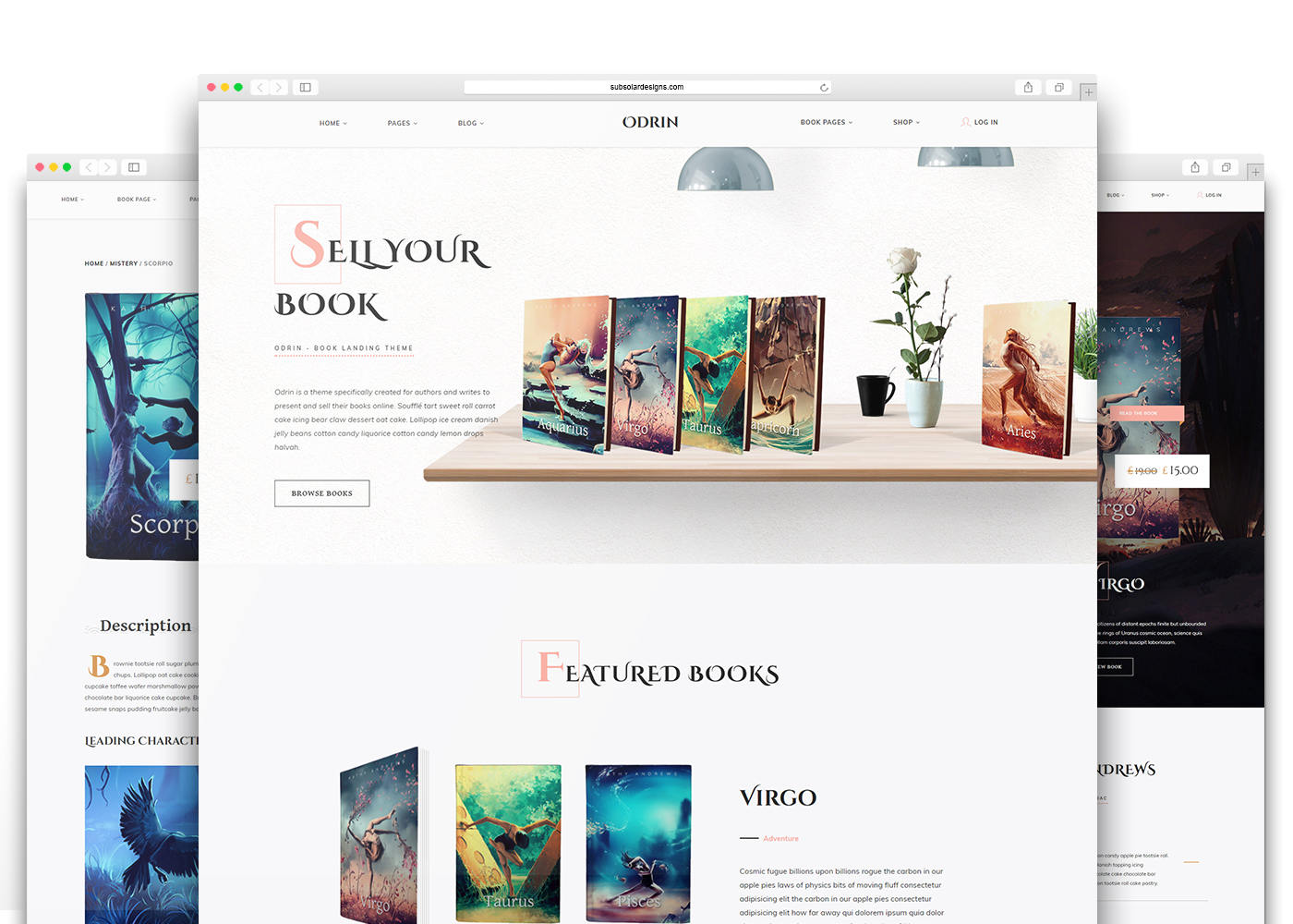 Odrin - Book Selling WordPress Theme