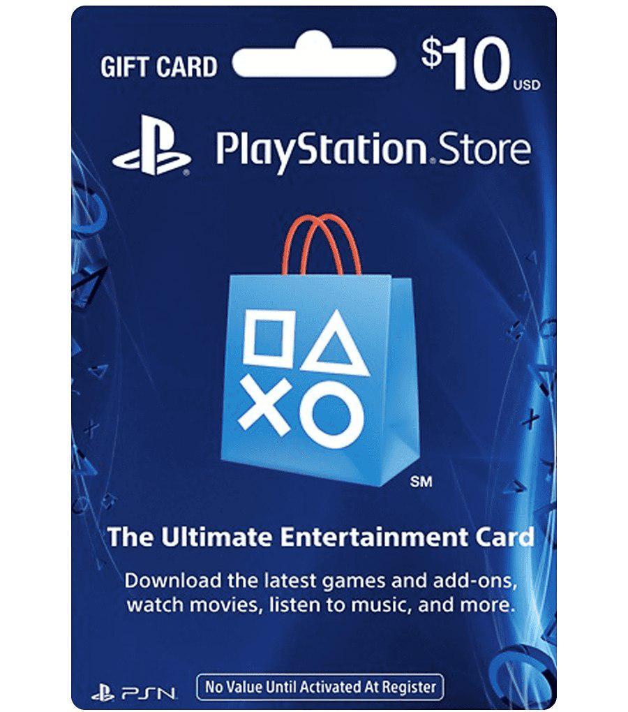 10$ PlayStation Network PSN (USA) 2019