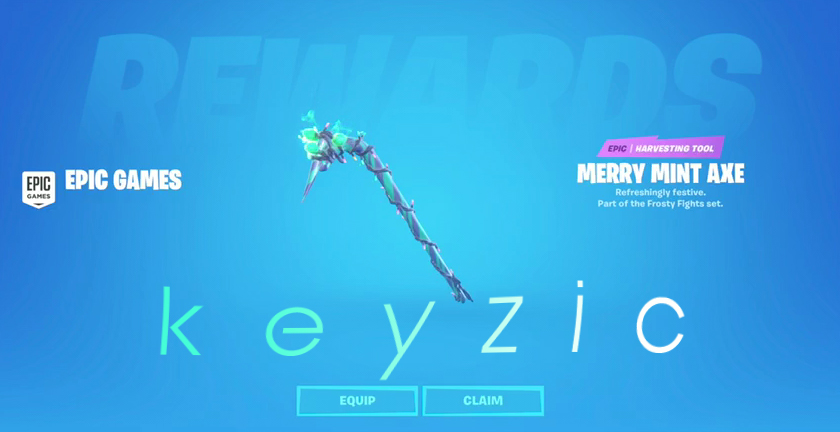 FORTNITE❤️MERRY MINT AXE ❤️MINTY⚡️INSTANT⚡️ +DISCOUNT🔥