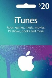 ITUNES 20 USD USA GIFT CARD
