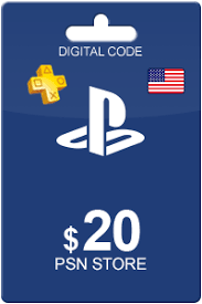 PSN 20 USD USA PLAYSTATION NETWORK GIFT CARD
