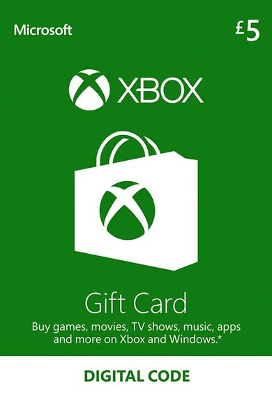 XBOX 5 GBP UK GIFT CARD UNITED KINGDOM