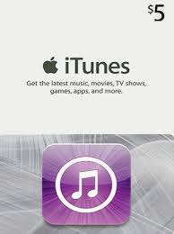 ITUNES 5 USD USA GIFT CARD