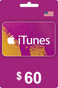 ITUNES 60 USD USA GIFT CARD
