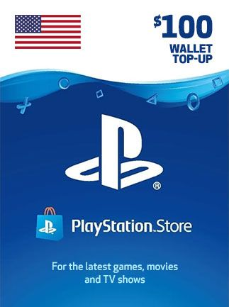 PSN 100 USD USA PLAYSTATION NETWORK GIFT CARD