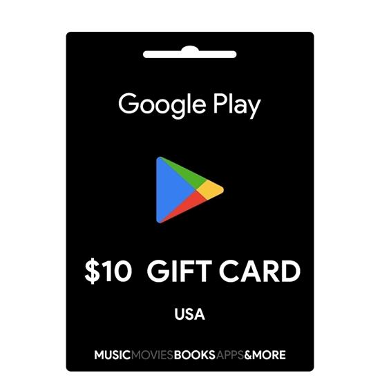 10$ Google Play Gift Card (USA) 2019
