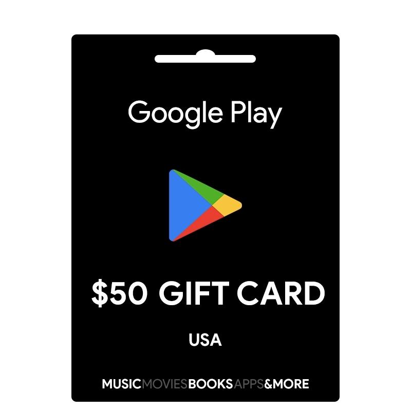 50$ Google Play Gift Card (USA) 2019
