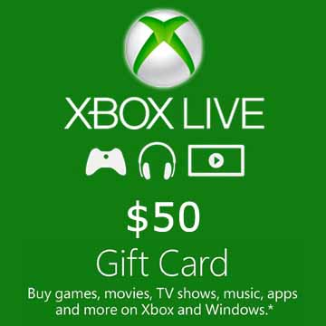 50$ XBOX GIFT CARD (USA) 2019