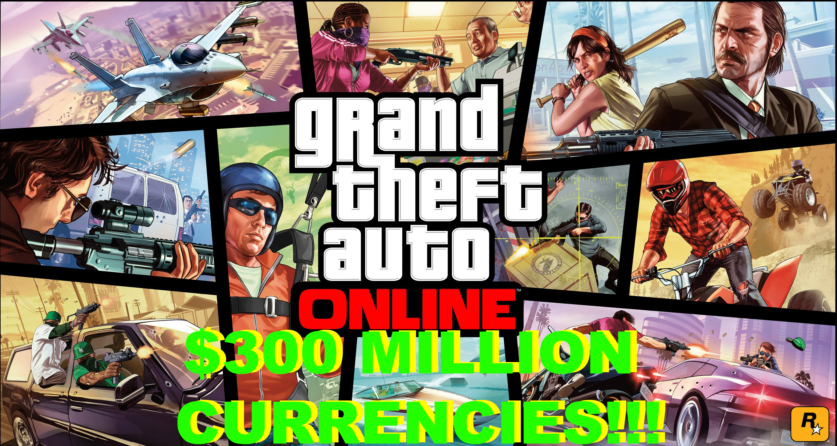 Grand Theft Auto V (GTA ONLINE MONEY 300 MILLION) PC✅