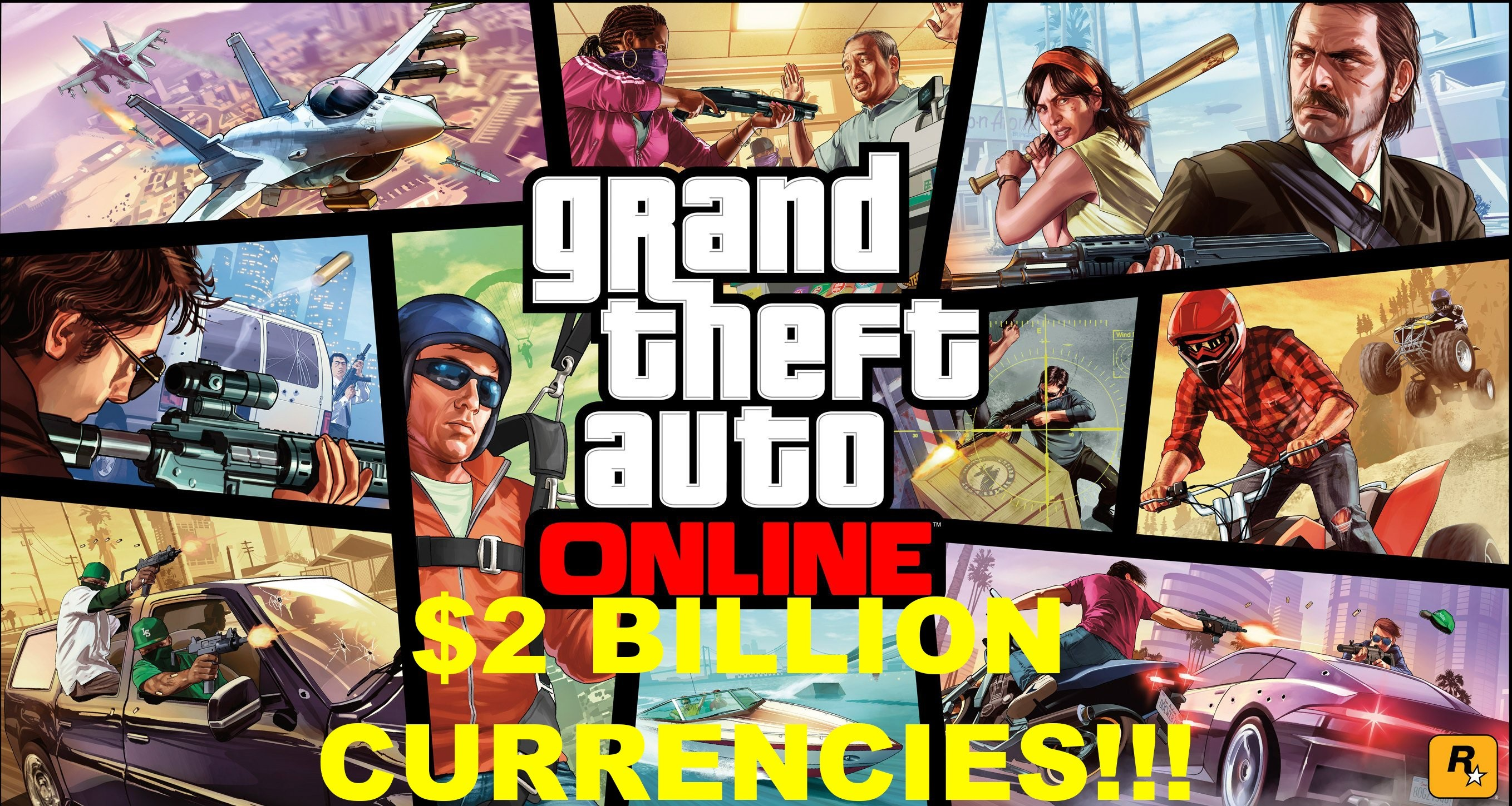 Grand Theft Auto V (GTA ONLINE MONEY 2 BILLION) PC