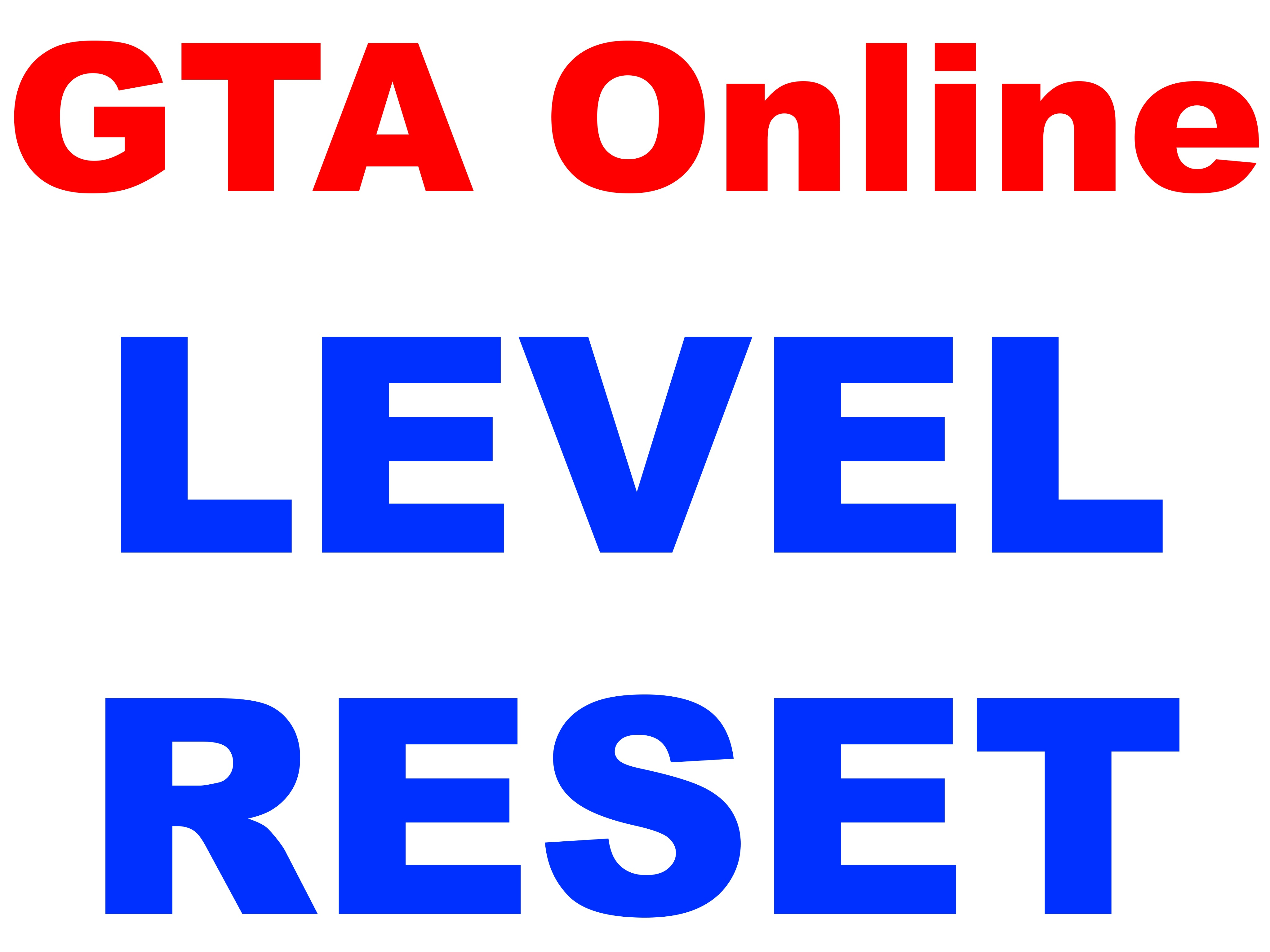 Grand Theft Auto V - RESET LEVEL (PC)