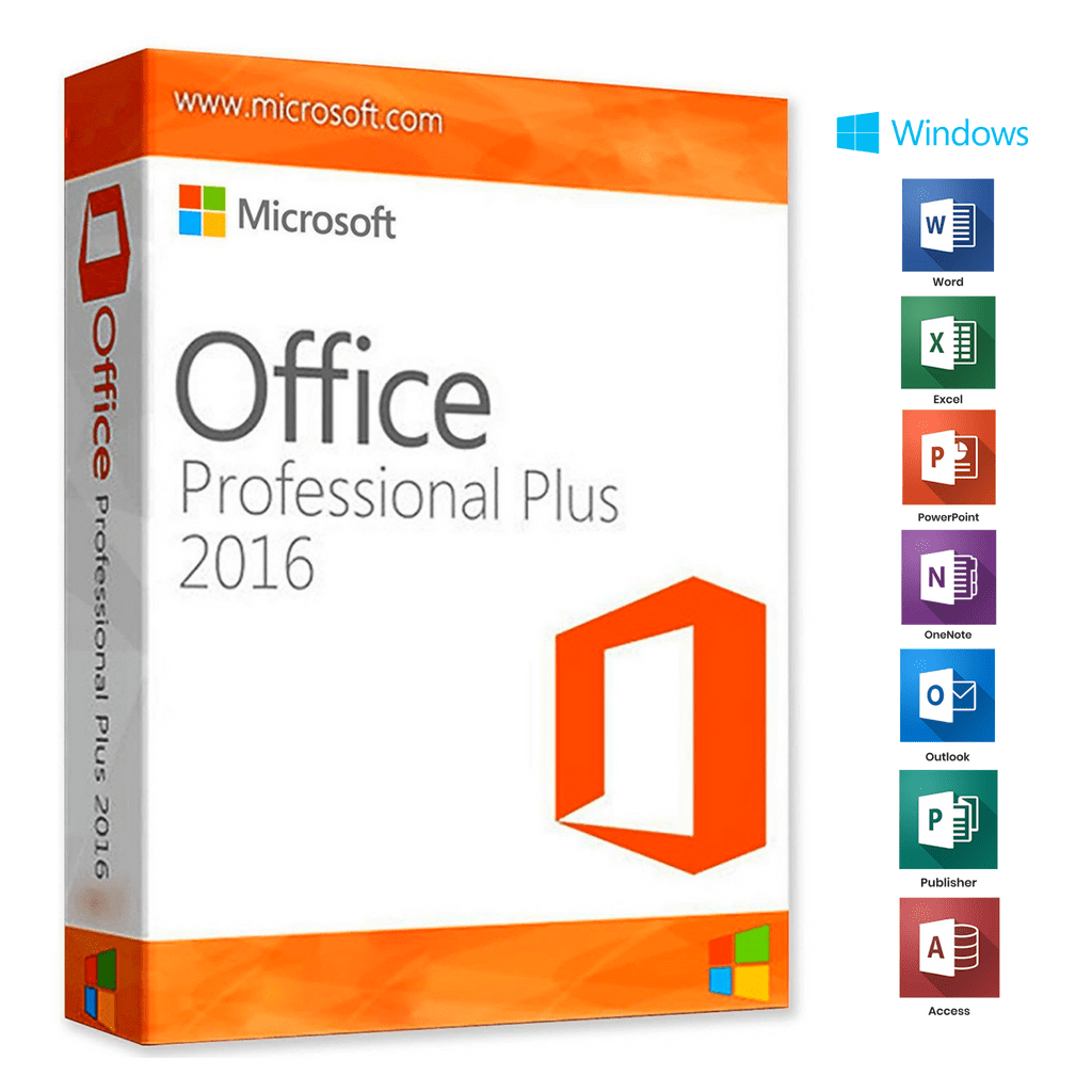 Microsoft Office Professional Plus 2016 1 PC + Gift