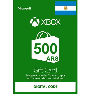 🟢XBOX LIVE 500 ARS GIFT CARD (ARGENTINA)