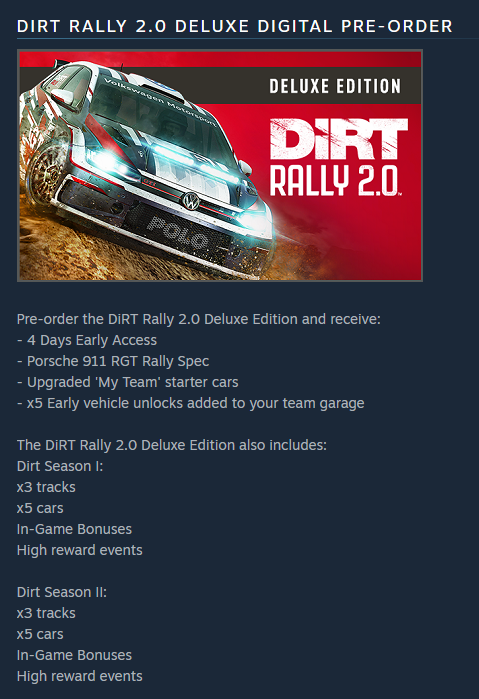DiRT Rally 2 0 (Steam Gift RU/VPN) Deluxe Edition