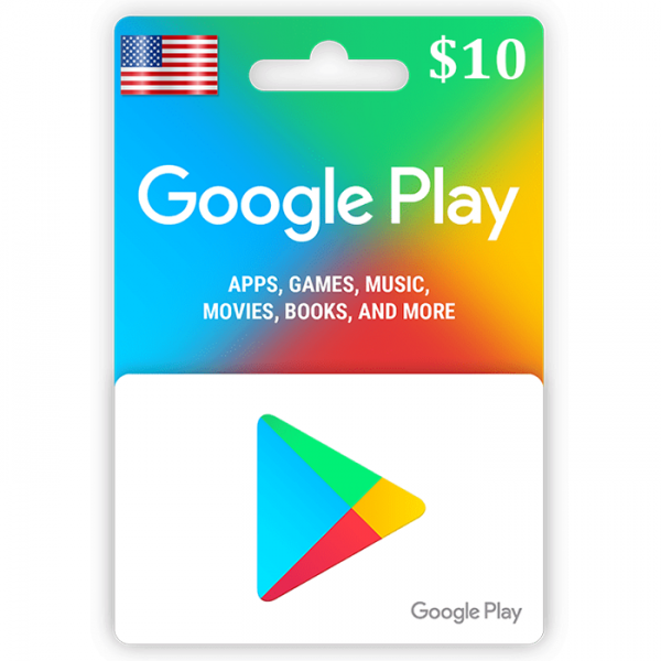 GOOGLE PLAY GIFT CARD $10 (USA) 🎁