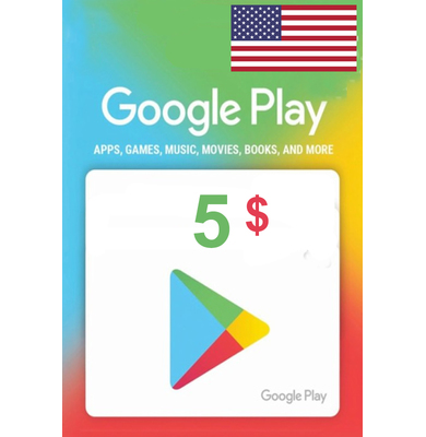 GOOGLE PLAY GIFT CARD $5 (USA) 🎁