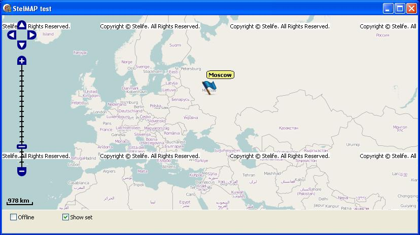 StelMap Delphi component of the project OSM map view