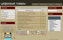Adhesive - template for the store on the basis of DigiSeller.ru