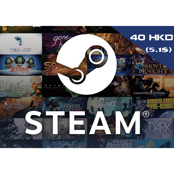 STEAM WALLET GIFT CARD 40 HK$ ✅GLOBAL (NOT ARGENTINA)🎁