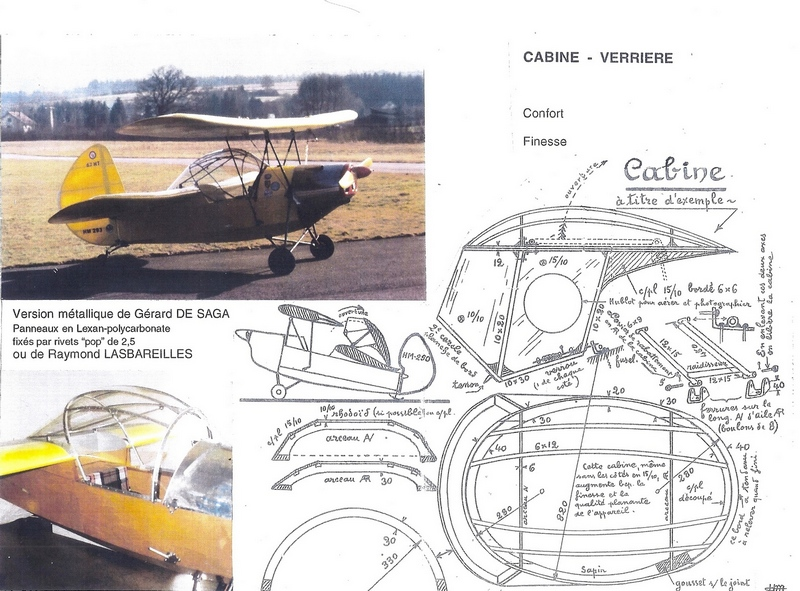 You Aviator. Drawings aircraft Le HM-293