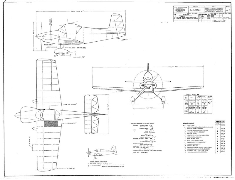 You Aviator. Drawings aircraft Corby CJ-1 Starlet