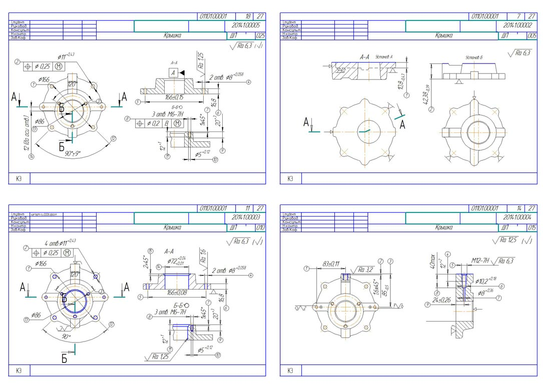 Techmash. The plot of the CNC Project Manuf. details Cover