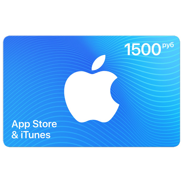 iTunes Gift Card (Russia) AppStore 1500