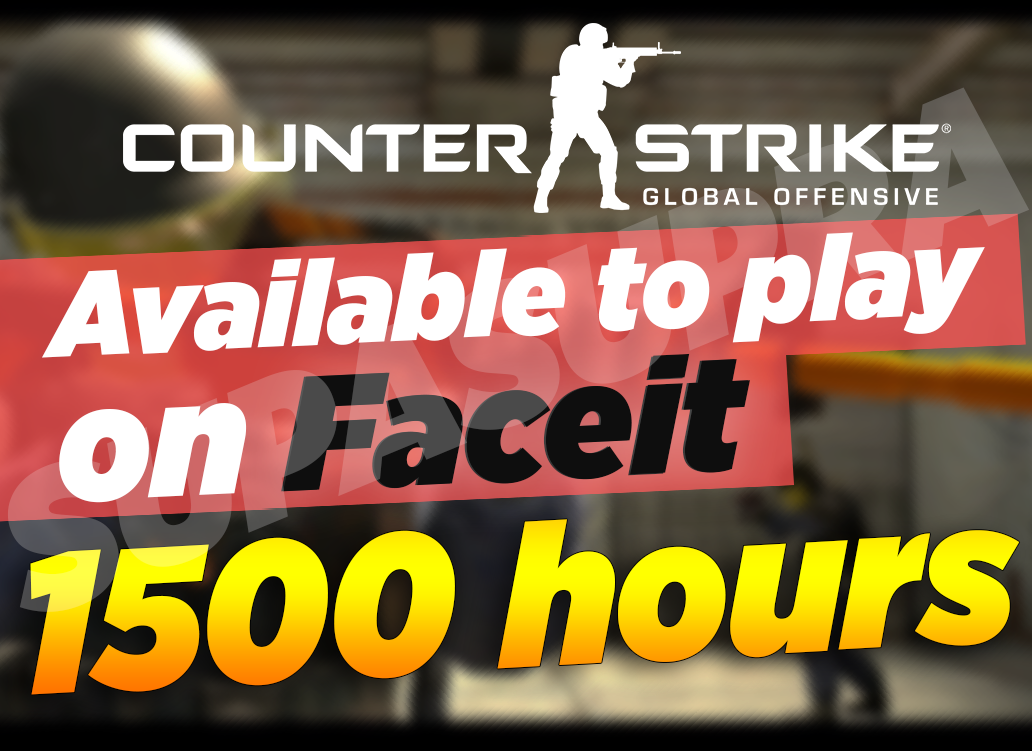 ⭐️ CSGO 1500 hours - ready for Faceit (NO PRIME) ✔️Mail
