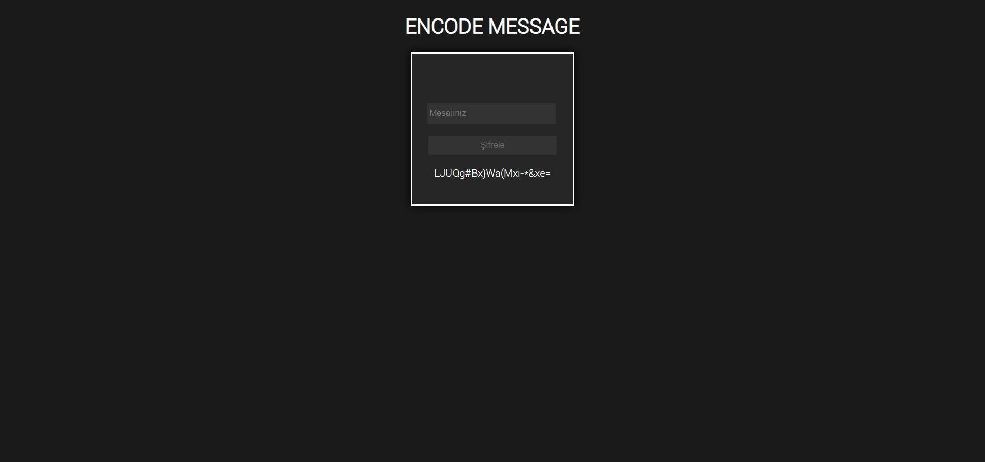 YCODEV1 - Unique message encoding program 2019