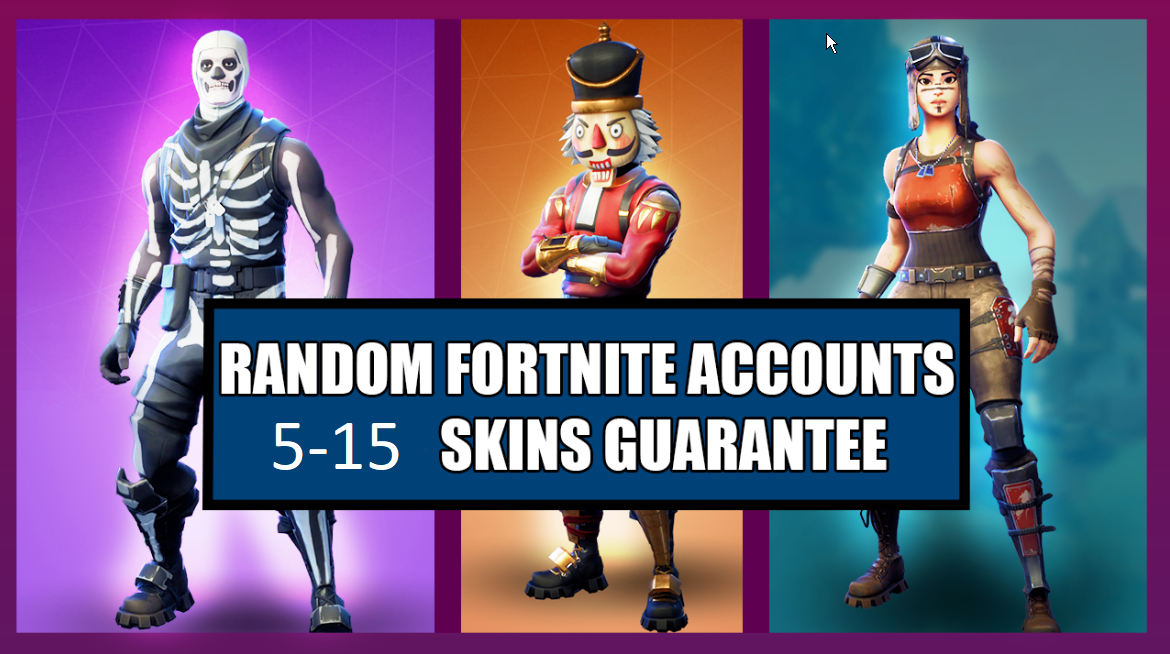 Fortnite Account 5-15 SKINS | PC only | Random | 2019