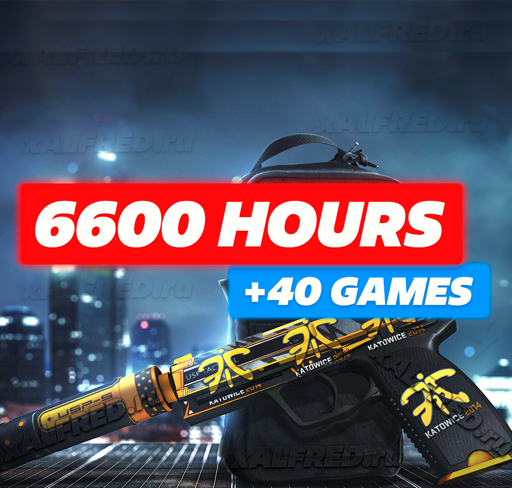 6600 HOURS IN CS:GO GAME ✔️ Added +40 Games! ❤️