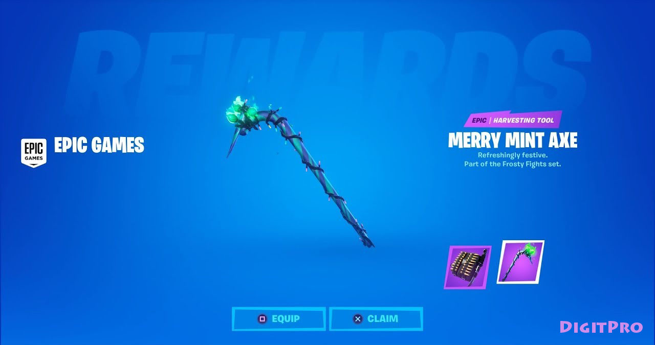 🔥[ FORTNITE ] ⭐MINTY PICKAXE⭐ (EPIC GAMES) + SALE🎁