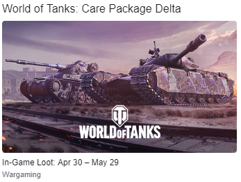 WOT New Twich Prime Care Package DELTA