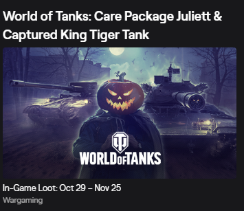 ⭐️⭐️⭐️ WOT Twitch Prime Care Package JULIETT