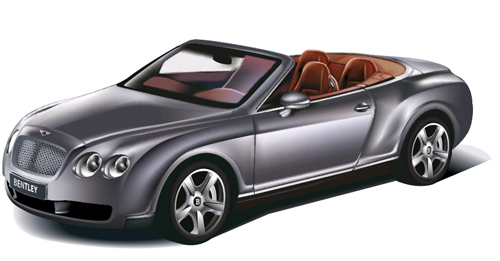 Car Bentley. Vector Image.
