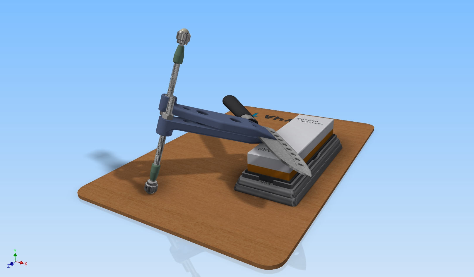 Sharpener crutches for Water stones on a 3D printer