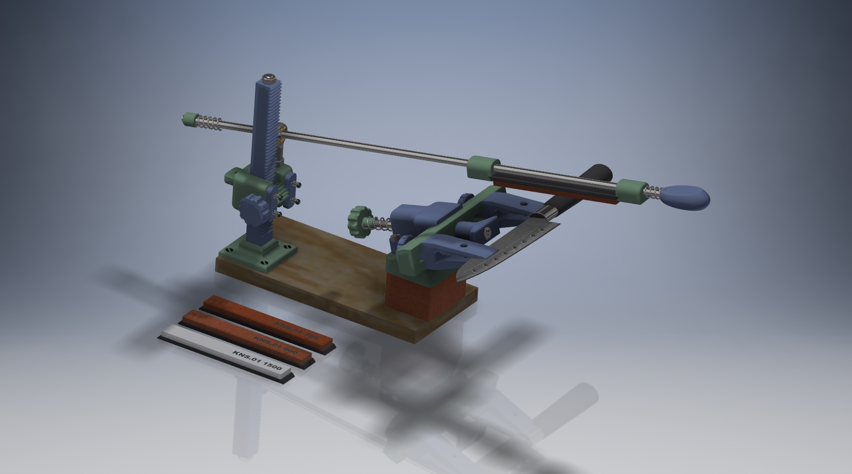 3D model, Chucha-LIGHT Grinding Machine for KNIVES