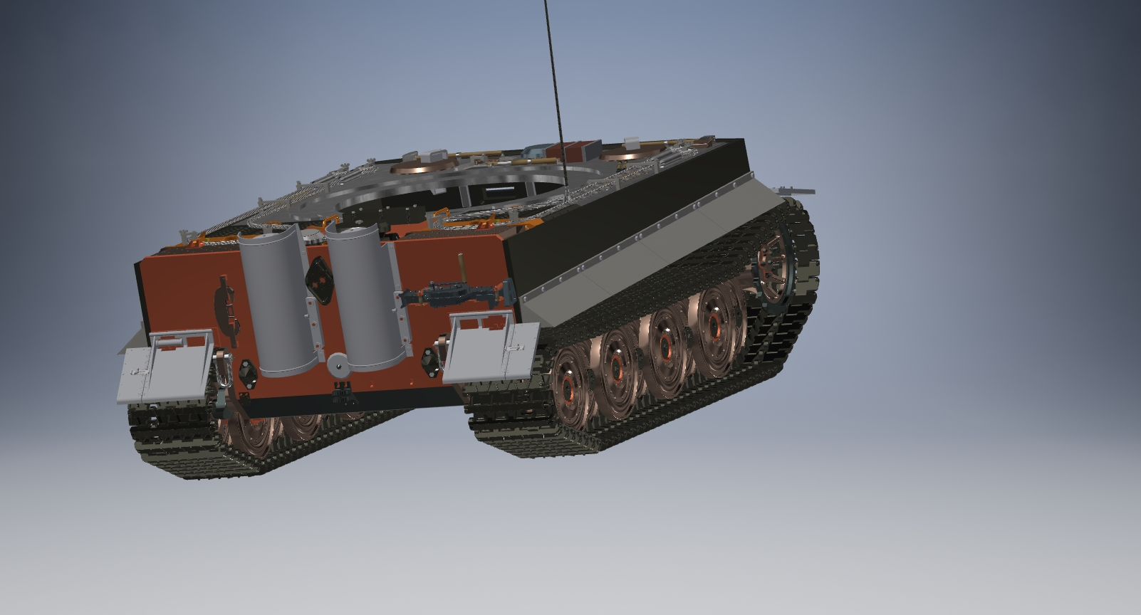 3D model Tank Tiger 1 scale 1to16 scale Autodesk Invent