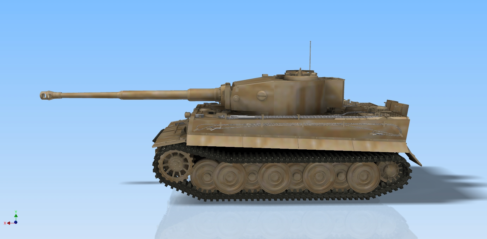 Tank Tiger 1 in STL format for 3D Printing