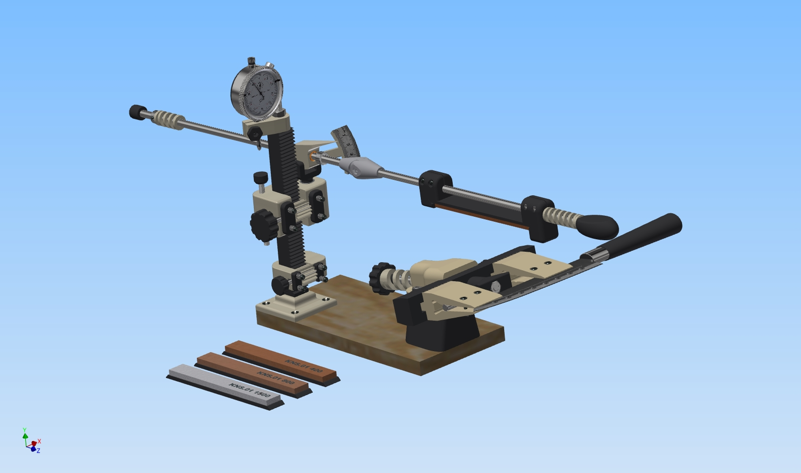 3D model Grinding system for Knives, Scissors and Drill