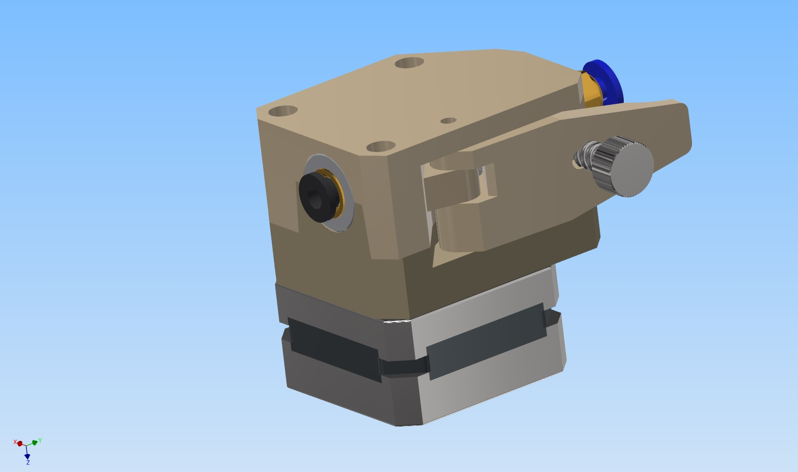 3D model BMG extruder for 3D printer