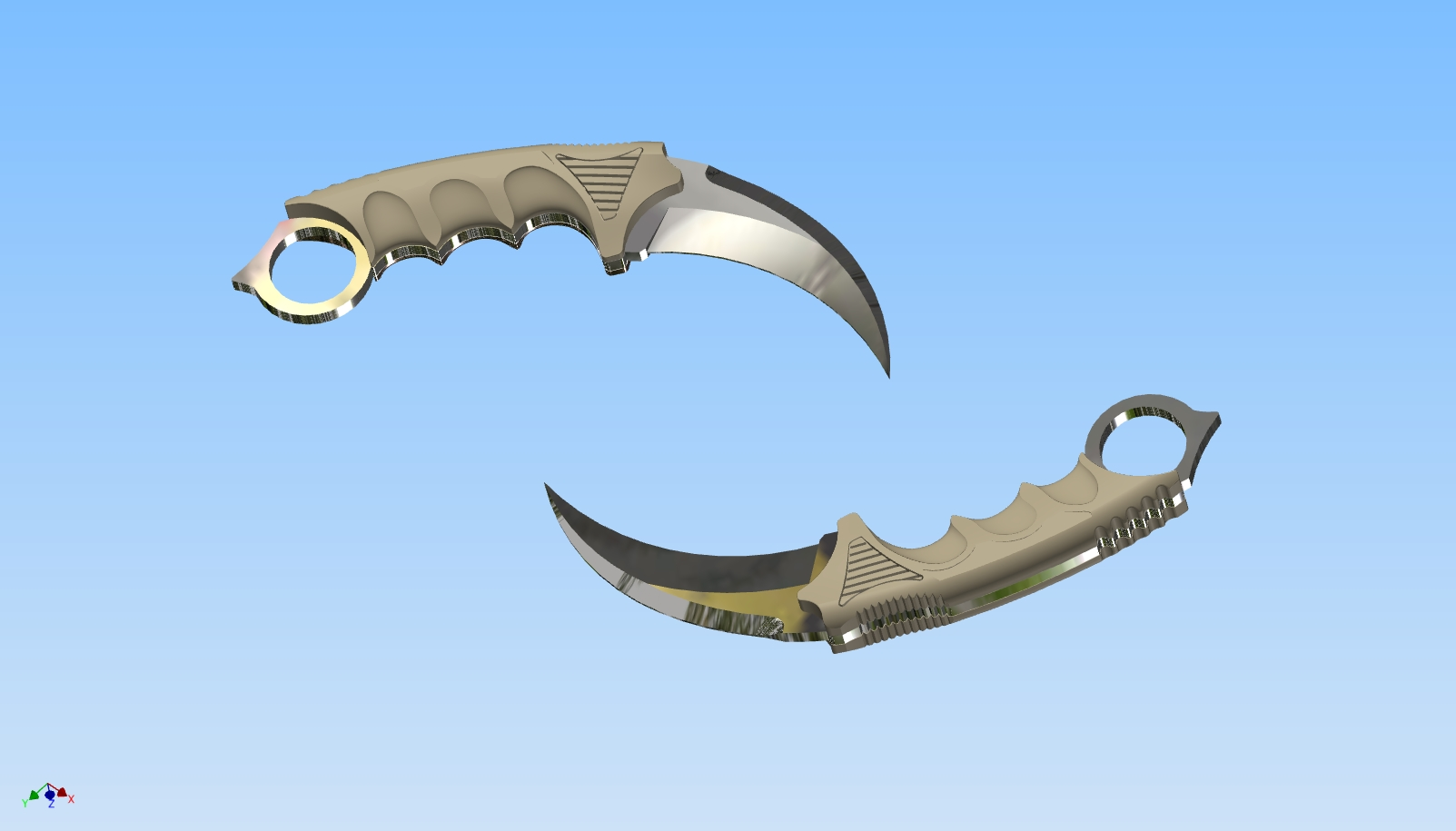 3d model of Karambit for a 3d printer
