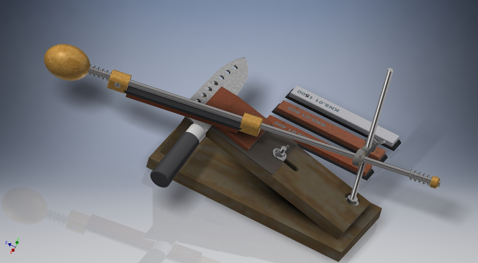 Drawings and 3D model APEX for sharpening KNIVES and SC